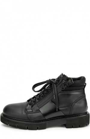 Высокие кожаные ботинки O.X.S.. Цвет: черный
