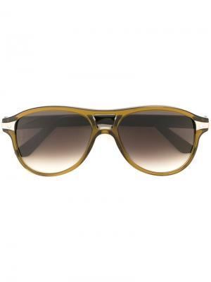 Солнцезащитные очки Santos Cartier. Цвет: зелёный