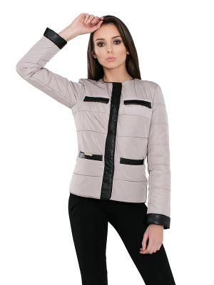 Куртка Alisa Line. Цвет: бежевый