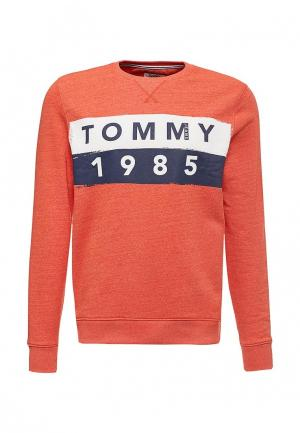 Свитшот Tommy Jeans. Цвет: оранжевый