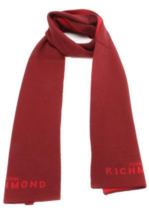 Шарф John Richmond. Цвет: 0447 бордовый - красный
