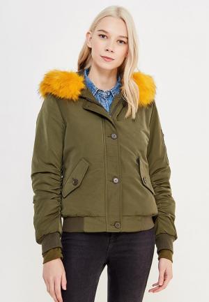 Куртка утепленная Laura Jo. Цвет: хаки