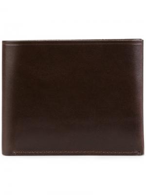 Классический бумажник Tarnsjo Garveri. Цвет: коричневый