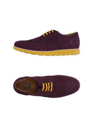 Обувь на шнурках COLORS OF CALIFORNIA. Цвет: баклажанный