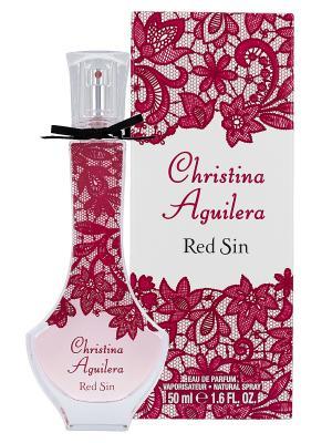 Туалетная вода christina aguilera red sin 50 мл. Цвет: прозрачный
