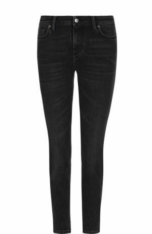 Укороченные джинсы-скинни Acne Studios. Цвет: черный