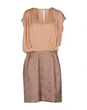 Короткое платье GOLD CASE. Цвет: телесный