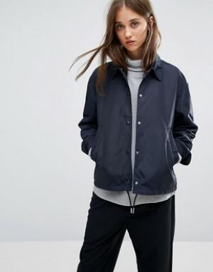Weekday Спортивная куртка. Цвет: темно-синий
