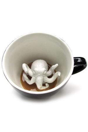 Кружка с Ктулху 330 мл Creature Cups. Цвет: черный