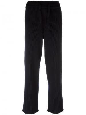 Спортивные брюки в рубчик Charlie May. Цвет: синий