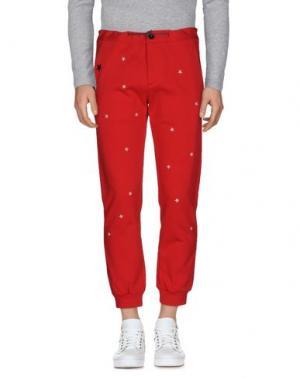 Повседневные брюки THE EDITOR. Цвет: красный
