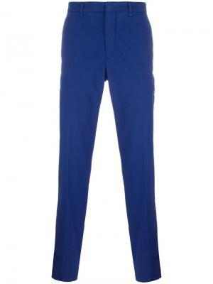 Классические брюки The Gigi. Цвет: синий