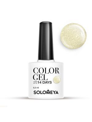 Гель-лак Color Gel Тон Celia SCG103/Селия SOLOMEYA. Цвет: светло-желтый