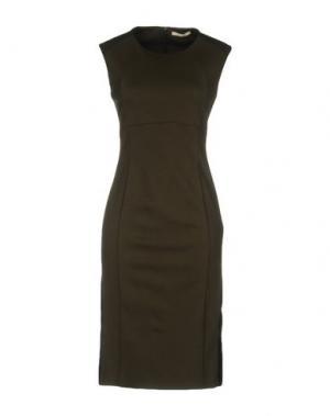 Платье до колена KARTIKA. Цвет: зеленый-милитари