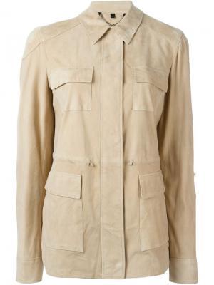Пиджак с накладными карманами Belstaff. Цвет: телесный