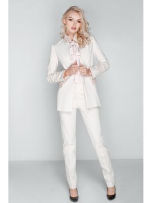 Жакет классический, вставки из фактурного твида DEMURYA. Цвет: белый