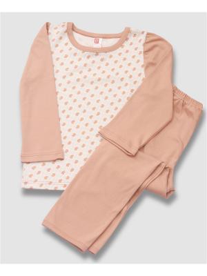 Пижама для девочки. Интерлок. BYT. Цвет: бежевый