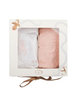 Подарочный комплект для новорожденных, Lula Set, цвет белый/персиковый (White/Feathered) SUPERTRASH. Цвет: персиковый, белый