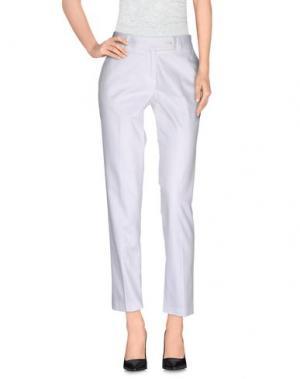 Повседневные брюки SAISON. Цвет: белый