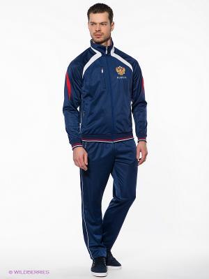 Спортивный костюм ADDIC. Цвет: темно-синий, красный, белый