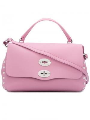 Сумка-тоут Postina Zanellato. Цвет: розовый и фиолетовый