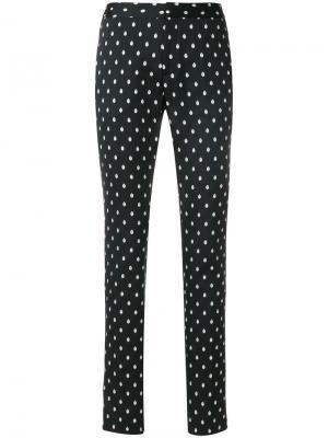Строгие брюки в горошек Giambattista Valli. Цвет: чёрный