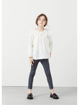Блузка  - TON Mango kids. Цвет: светло-бежевый