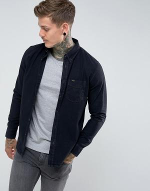 Lee Черная джинсовая рубашка на пуговицах. Цвет: черный