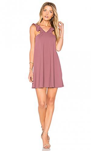 16 платье cassie Susana Monaco. Цвет: фиолетовый