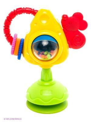 Игрушка для стульчика Мышка с сыром и крекерами CHICCO. Цвет: желтый