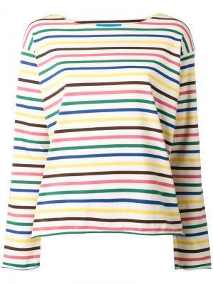 Футболка Rainbow Stripe Mih Jeans. Цвет: телесный