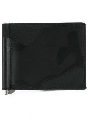 Камуфляжный бумажник  Garavani Valentino. Цвет: чёрный