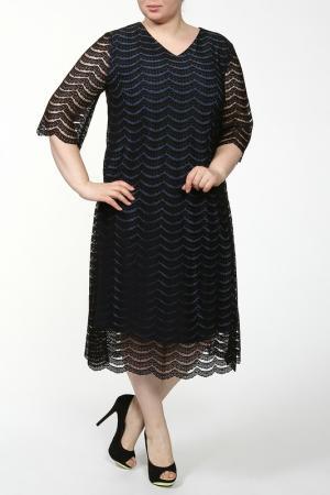Платье Lia Mara. Цвет: черный, синий