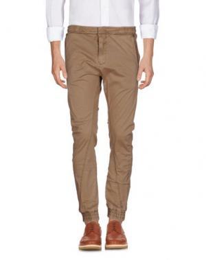 Повседневные брюки YES ZEE BY ESSENZA. Цвет: верблюжий