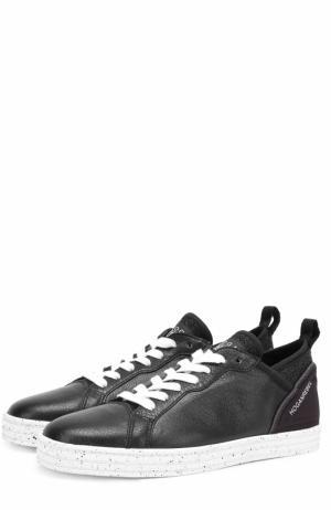 Комбинированные кеды на шнуровке Hogan. Цвет: черный