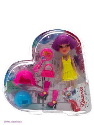 Красотка фэшн кукла с аксессуарами 1Toy. Цвет: розовый