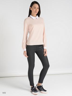 Блузка Colambetta. Цвет: розовый, белый