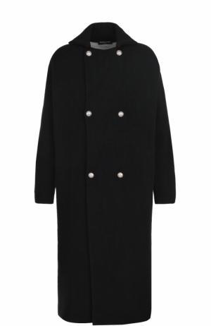 Двубортное шерстяное пальто Gemma. H. Цвет: черный