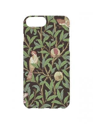 Чехол для iPhone 7Plus Куропатки в саду Арт. 7Plus-254 Chocopony. Цвет: зеленый, коричневый