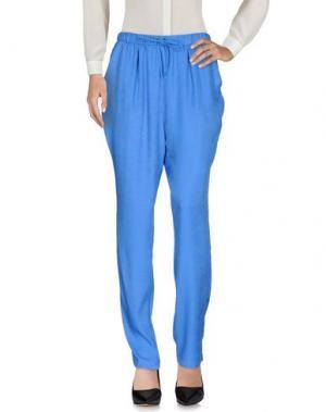 Повседневные брюки YERSE. Цвет: лазурный