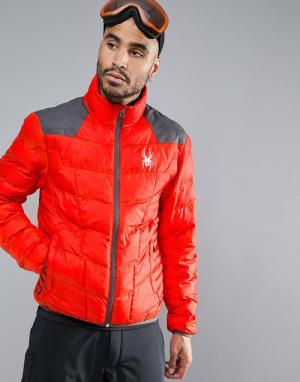 Spyder Лыжная куртка Geared. Цвет: красный