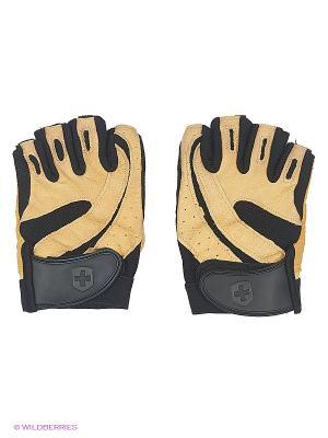 Перчатки для фитнеса мужские Pro HARBINGER. Цвет: бежевый, черный