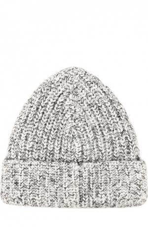 Вязаная шапка с отворотом T by Alexander Wang. Цвет: черно-белый