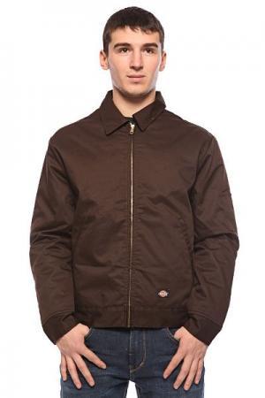 Ветровка  Lined Eisenhower Jacket Dark Brown Dickies. Цвет: коричневый