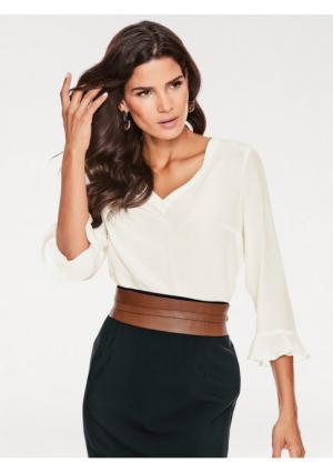 Блузка ASHLEY BROOKE by Heine. Цвет: молочно-белый, черный