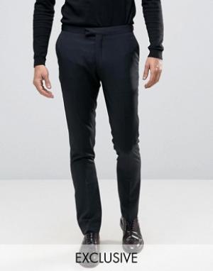 Number Eight Savile Row Облегающие брюки. Цвет: черный