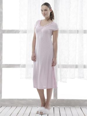 Ночная сорочка RELAX MODE. Цвет: бледно-розовый