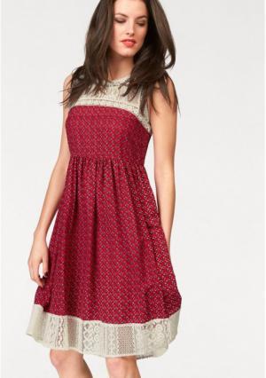 Платье Aniston. Цвет: красный/цвет белой шерсти/серый/синий