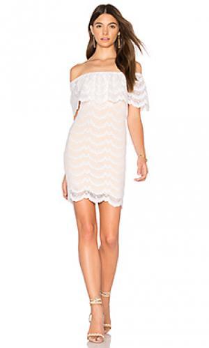 Мини платье bachelorette Nightcap. Цвет: белый