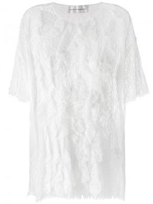Кружевная блузка Faith Connexion. Цвет: белый